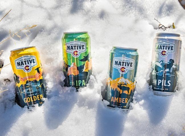 Who needs a cooler when you can ice down your beer in the snow. #local . . . #coloradonative #coloradonativebeer #100percentcoloradoingredients #icecoldbeer #onlyavailableincolorado #colorado #beer