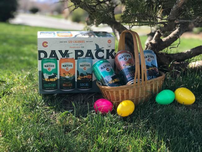 #stayathome idea for the weekend: adult egg/beer hunt in the backyard . . . #coloradonative #coloradonativebeer #easteregghuntforadults #daypack #100percentcoloradoingredients #onlysoldincolorado